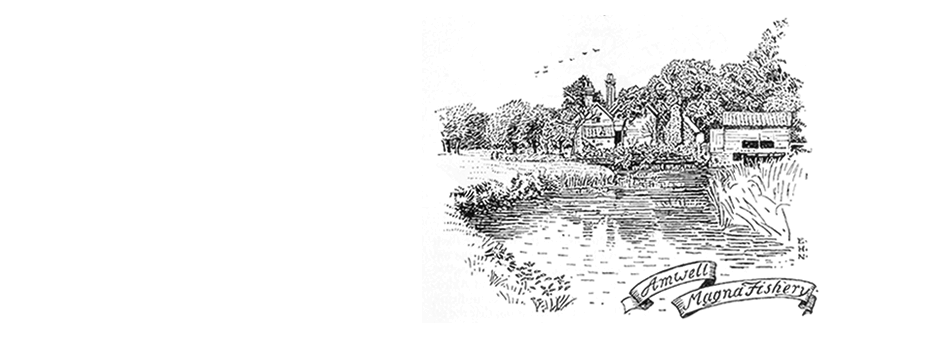 Engraving showing Amwell Magna Fishery by Edmund Hort New